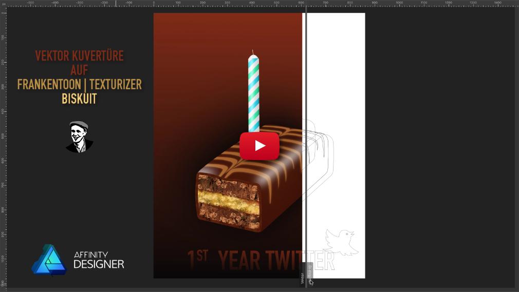 Vektor Zeichnung Biskuit mit Kerze