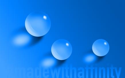 Glaskugeln - Glass spheres - Affinity Designer
